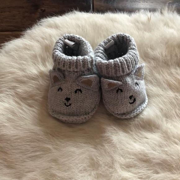 Carters Gray Baby Booties